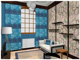 Hokusai inspired Show Home interior design created in collaboration with Linden Show Homes.