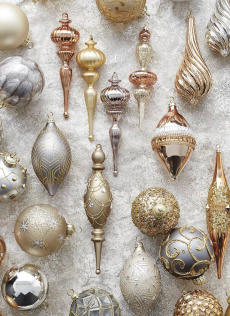 Frontgate Mixed Metals 60-piece Ornament Collection