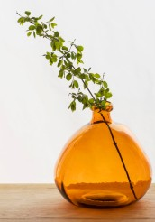 386457-Wells-Bubble-Vase-Amber-Recycled Glass